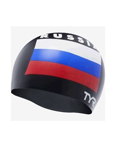 Шапочка для плавания Russia Silicone Swim Cap силикон LCSRUS 001 черный Tyr