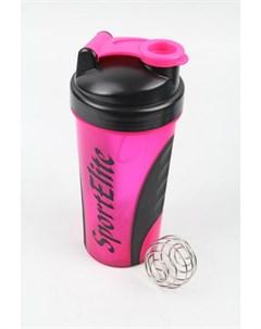 Шейкер спортивный SH 120 600 мл розовый черный Sport elite