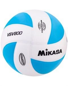 Мяч волейбольный тренировочный VSV800WB р 5 бело голубой Mikasa