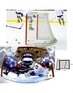 Сетка хоккейная проф EL 16444033500 нить 4мм ПП 3 5х3 5см белая Leon de oro