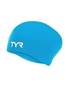 Шапочка для плавания Long Hair Wrinkle Free Silicone Junior Cap силикон LCSJRL 420 голубой Tyr