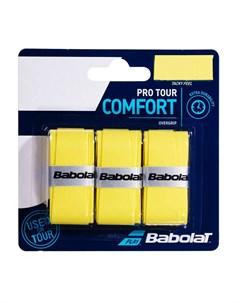Овергрип Pro Tour X3 653037 113 3 шт желтый Babolat