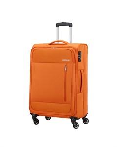 Чемодан 4 х колесный оранжевый 43х25 5х68 см American tourister