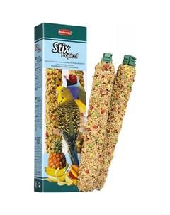 Лакомство для птиц Stix tropical Для попугаев и экзотов с фруктами 2х60 Padovan
