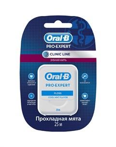 Зубная нить Pro Expert Clinic Line Прохладная мята 25 м Oral-b