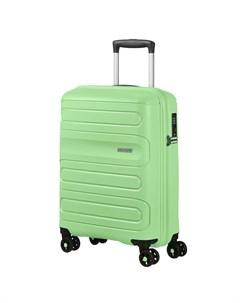 Чемодан 4 х колесный светло зеленый 40х20х55 см American tourister