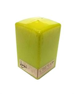 Свеча призма квадратная 6x6x10 лайм Lumi