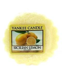 Ароматическая свеча тарталетка Сицилийский лимон 22 г Yankee candle