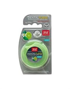 Антибактериальная объемная зубная нить Professional Dental Floss с ароматом БЕРГАМОТА И ЛАЙМА 30 мет Splat