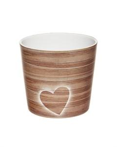 Кашпо 870 timber heart 15 см Scheurich
