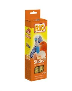 Лакомство Sticks для всех видов птиц с яйцом и ракушечником 80 Rio