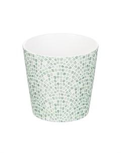 Кашпо dallas d14 мозаика зеленая Soendgen
