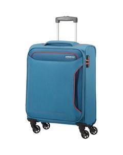 Чемодан 4 х колесный голубой 40х20х55 см American tourister