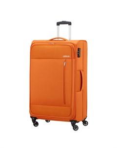 Чемодан 4 х колесный оранжевый 47х29х80 см American tourister
