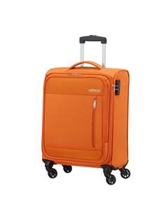 Чемодан 4 х колесный оранжевый 40х20х55 см American tourister