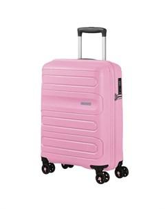 Чемодан 4 х колесный розовый 40х20х55 см American tourister
