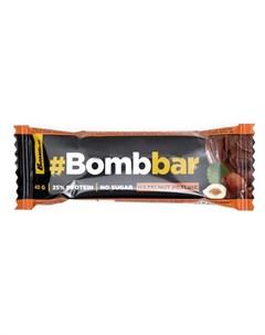 Протеиновый батончик фундучное пралине в шоколаде 40 г Bombbar