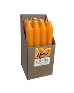 Свеча столовая 2x17 8 оранжевая апельсин 1 шт Lumi