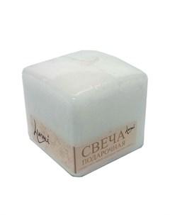 Свеча призма квадратная 6x6x6 белая Lumi