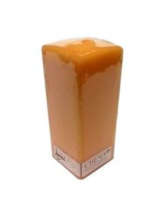 Свеча призма квадратная 6x6x15 медовая дыня Lumi
