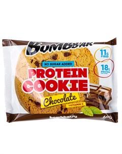 Печенье протеиновое Шоколад 60 г Bombbar