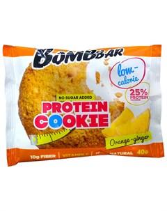 Печенье протеиновое Апельсин имбирь 40 г Bombbar
