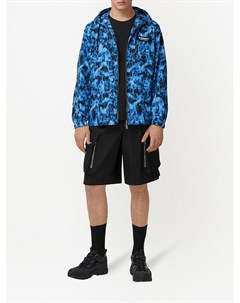 Куртка с капюшоном и принтом Burberry