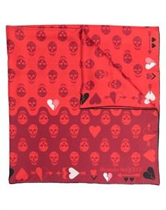 Платок с принтом Heart and Skull Alexander mcqueen
