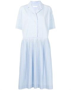 Плиссированное платье рубашка длины миди Casey casey