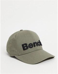 Оливковая кепка с большим логотипом Bench