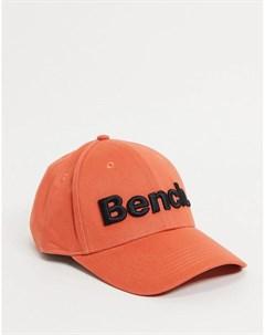 Оранжевая кепка с большим логотипом Bench
