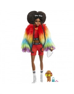 Экстра Кукла в радужном пальто Barbie