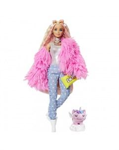 Экстра Кукла в розовой куртке Barbie