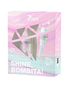 Подарочный набор Shine Bombita Light Pink Молочко и мист для тела 7 days