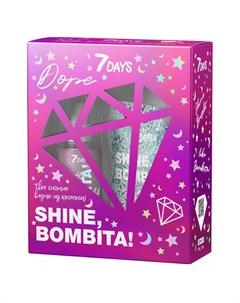 Подарочный набор Shine Bombita Dope Гель глиттер для волос и Мерцающий мист 7 days