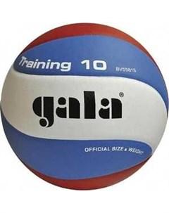Мяч волейбольный Training 10 BV5561S размер 5 цвет бело голубо красный Gala