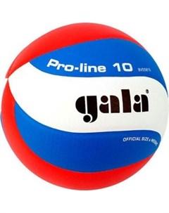 Мяч волейбольный Pro Line 10 размер 5 цвет бело голубо красный BV5581S Gala