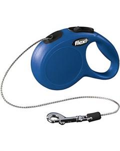 Рулетка New Classic CAT XS трос 3м синяя для кошек до 8кг Flexi