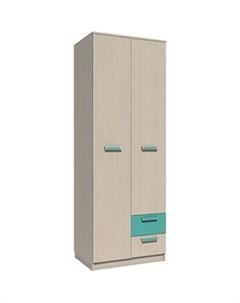 Шкаф для одежды НМ 14 07 рико дуб девонширский аква с ящиками Silva