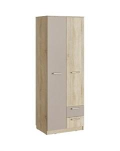 Шкаф для одежды НМ 14 07 акварель дуб сонома капучино с ящиками Silva