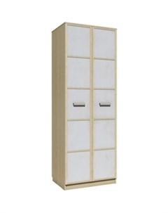Шкаф для одежды НМ 013 02 03 фанк клен танзанский белый Silva