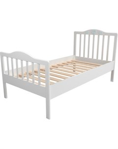 Кровать НМ 041 06 Лилу птички белый голубой Silva
