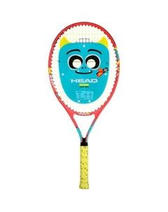 Ракетка для большого тенниса Novak 21 Gr05 арт 233520 для 4 6 лет алюм со струнами красн сине желтый Head