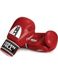 Перчатки боксерские TIGER арт BGT 2010c 12 RD 12 oz натуральная кожа красные Green hill