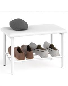 Обувница Самба разборная цвет белый сиденье цвет белый искусственная кожа Delice