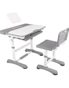 Парта трансформер со стулом R8 1 gray Капризун