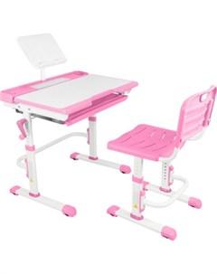 Парта трансформер со стулом T7 pink Капризун