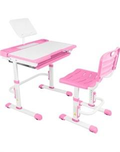Парта трансформер со стулом A7 pink Капризун