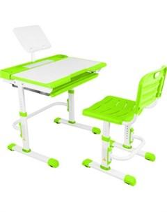 Парта трансформер со стулом A7 green Капризун