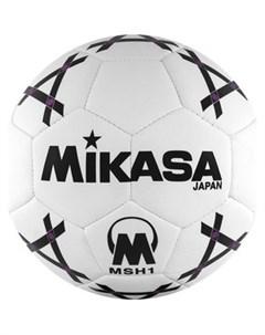 Мяч гандбольный MSH 1 синт кожа р 1 бело черно фиолетовый Mikasa